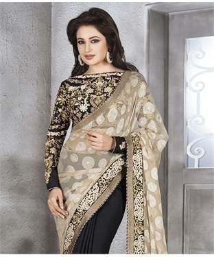 Jacquard Saree with Blouse | I found an amazing deal at fashionandyou.com and I bet you'll love it too. Check it out!