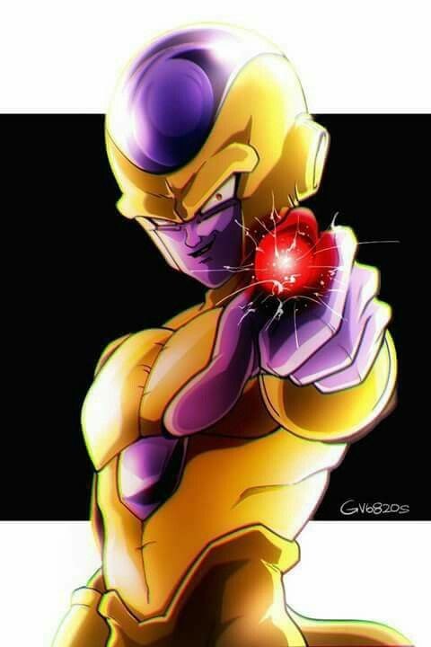 Golden frieza dragon ball super meme gold dragon with gemstone pendants