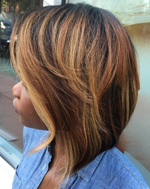48++ Blonde highlights on african american hair trends