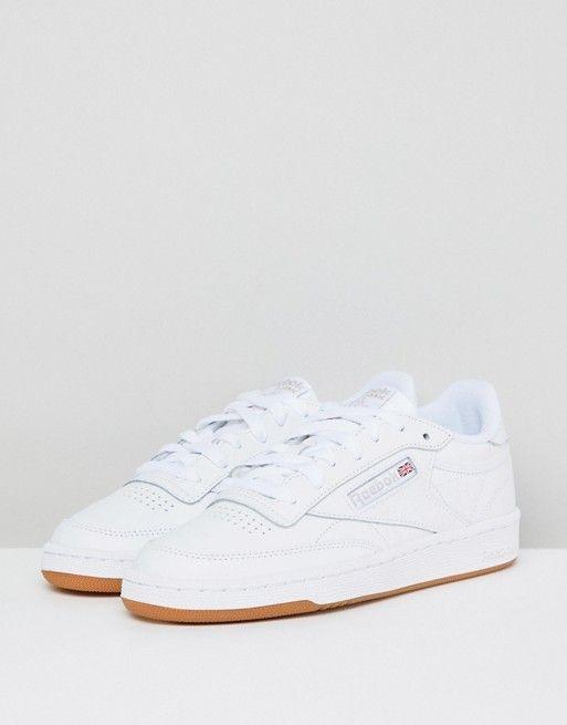 Reebok | Reebok Classic Club C 85 Sneakers In White Leather