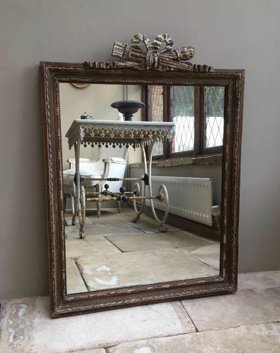 Victorian Hand Scraped Decorative Mirror