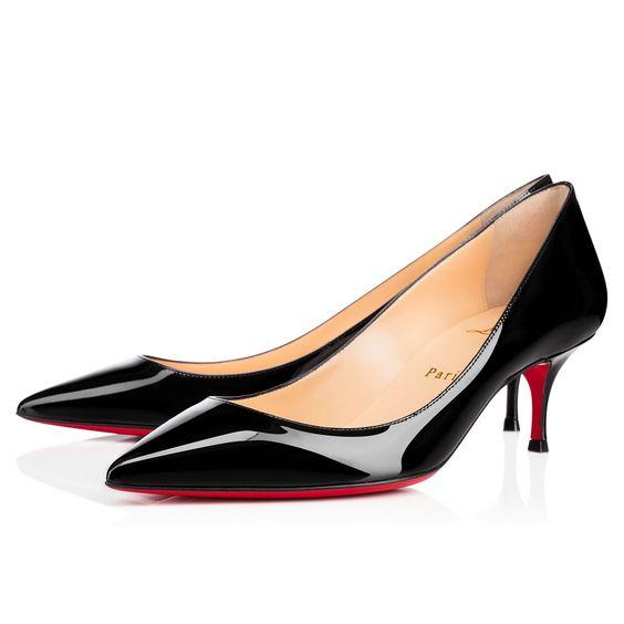christian louboutin imitations - Pigalle Follies 55 Black Patent Leather - Women Shoes - Christian ...