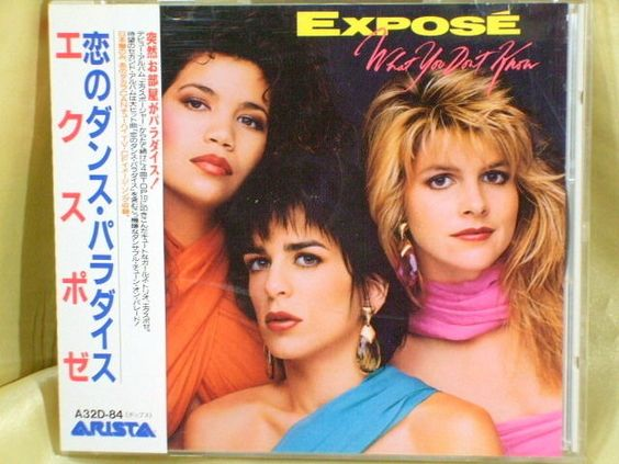 CD/Japan- EXPOSE What You Don't Know +1 bonus trk w/OBI RARE 1989 A32D-84 #DiscoDancePopElectroSynth