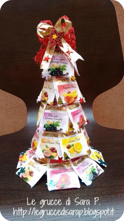 Albero di Natale con le bustine del thè