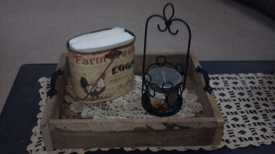 Pallet tray by 2GirlsAlotofpaint on Etsy, $20.00