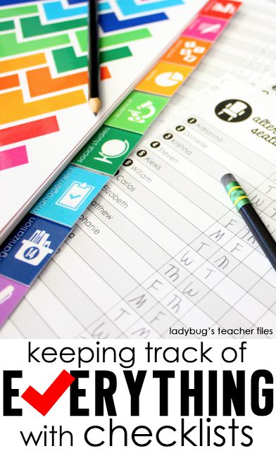 Keep your finger on the pulse of your classroom—use checklists to keep track of every single part of your teaching!