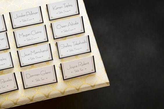 Making Your Own Beautiful Place Cards For Your Wedding Is Simple These Were Made Using Avery