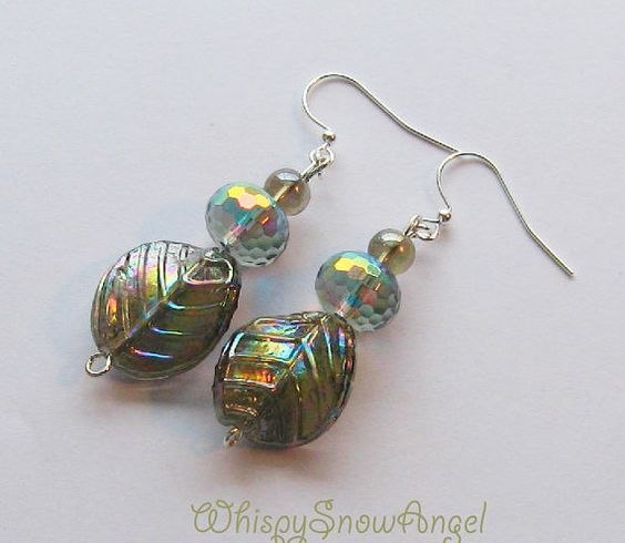 Rainbow Smokey Glass Earrings by WhispySnowAngel on Etsy, $20.00