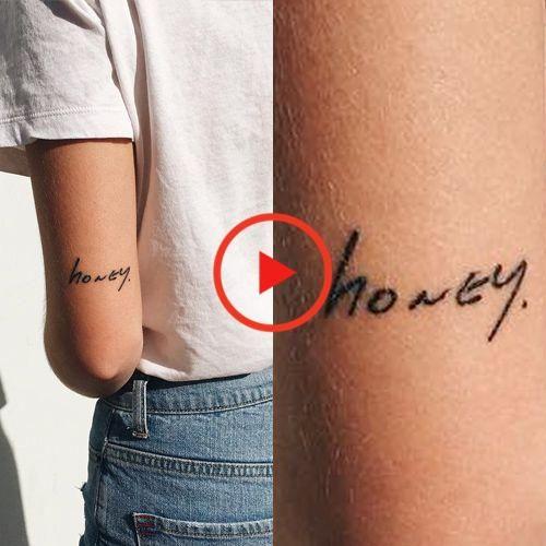 Everjoy Realistische Tiny Temporaren Tatowierungen 60 Pc Wasserdichte Zitate Worte Linien Tattoos For Women Small Small Tattoos Simple Upper Arm Tattoos