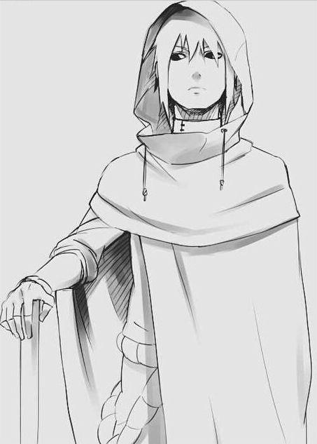 Sasuke Uchiha, simply strokes capture who he is.