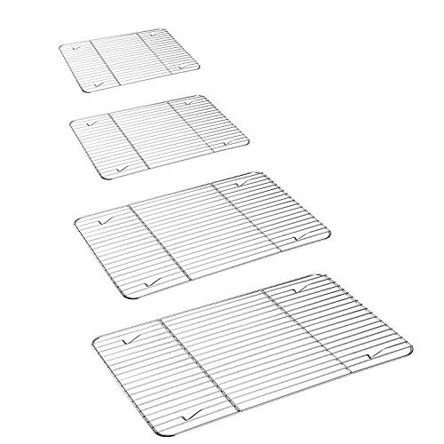 P P Chef Cooling Rack 4 Pack Stainless Steel Baking Racks For