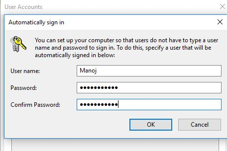Login Password Windows