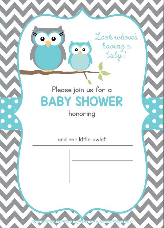 Free Owl Baby Shower Invitations Free Printable Baby Shower I Owl Baby Shower Invitations Free Printable Baby Shower Invitations Free Baby Shower Invitations