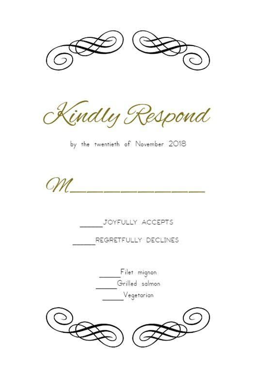 Decorative Detail Rsvp Card Template Free Greetings Island Rsvp Wedding Cards Card Templates Free Free Wedding Printables