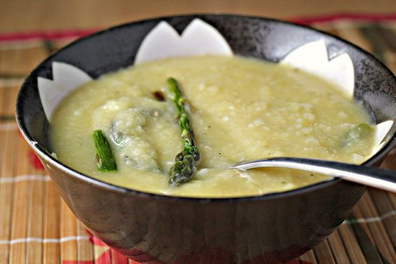 Roasted Asparagus and White Bean Soup by eatswellwithothers