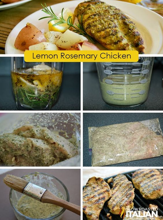 Simple Rosemary Lemon Marinade and Grilled Chicken #recipe #chicken # ...
