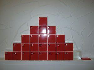 Adventskalender aus Multifachboxen. Nach Weihnachten als Setzkasten zu gebrauchen. www.combi-fix.de