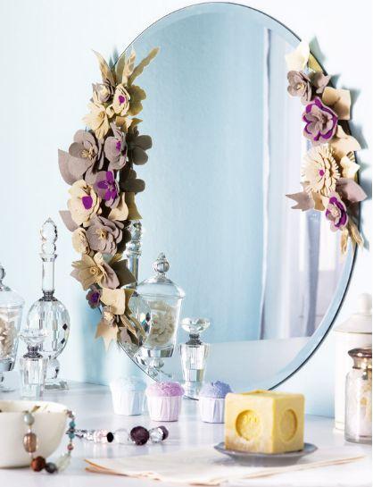 Ideas para decorar un espejo sin marco casas interiores for Como decorar un espejo sin marco