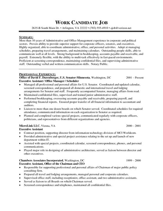 Help on How To Write an Executive Assistant Resume - personal assistant resume
