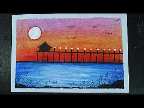 Beautiful Oil Pastel Painting Of A Riverside Sunset Scenery Drawing Oil Pastel Drawing Youtube Oil Pastel Paintings Pastel Painting Oil Pastel Drawings