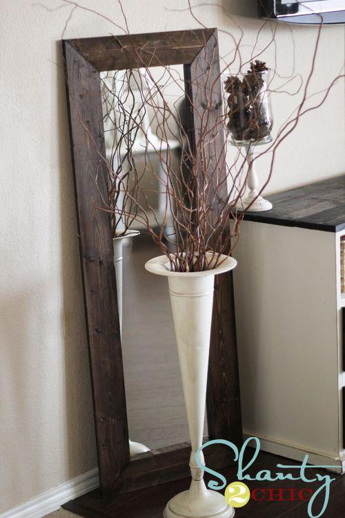 DIY Floor Mirror....cheap and easy!: