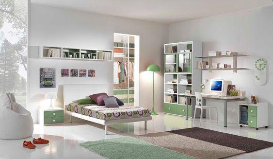 Camerette sme ~ Chambre ado fille 17 ans chambre à coucher design maya