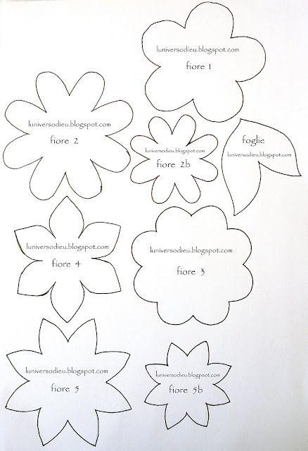 Paper and felt flower templates
