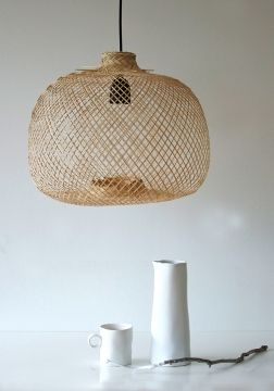 We love this handmade Bamboo Lamp by Bloomingville. It is one Item of our Best-Sellers, that bring nature indoor! Available at www.HEIMELIG-SHOP.com
