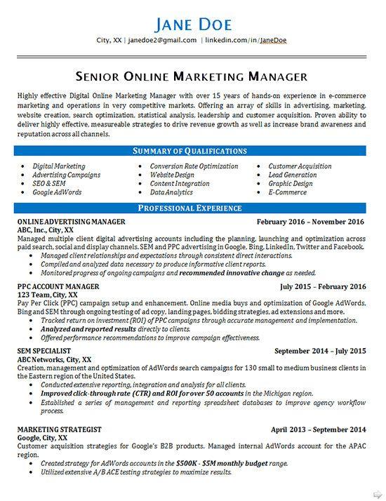 Digital Marketing Resume Example Popular Line Marketing Resume Example Seo Advertising Of 39 Marketing Resume Resume Examples Good Resume Examples