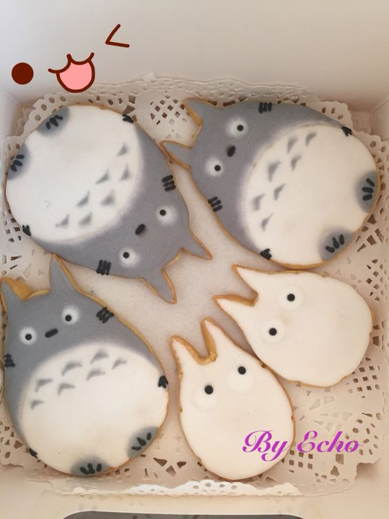 Handmade totoro cookies!
