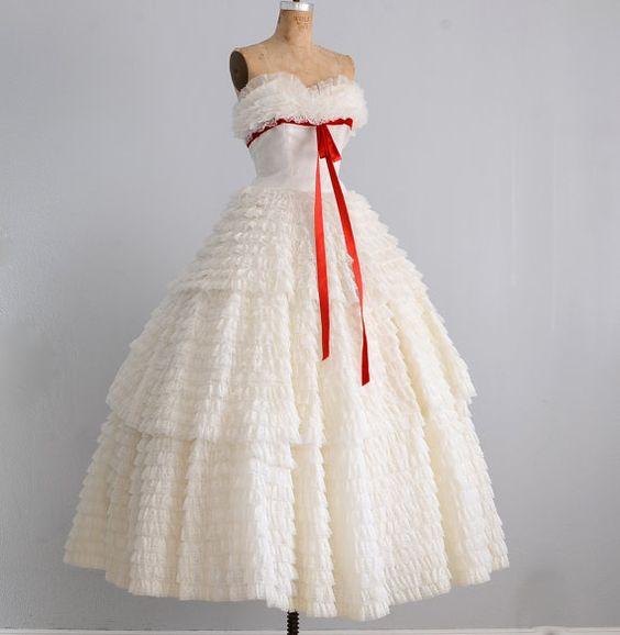 Vintage années 50 robe robe bustier robe prom par PickledVintage