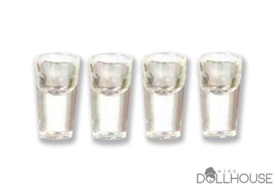 Miniature Water Glasses $6.40 #minicups #miniatureaccessories Start shopping! missdollhouse.com
