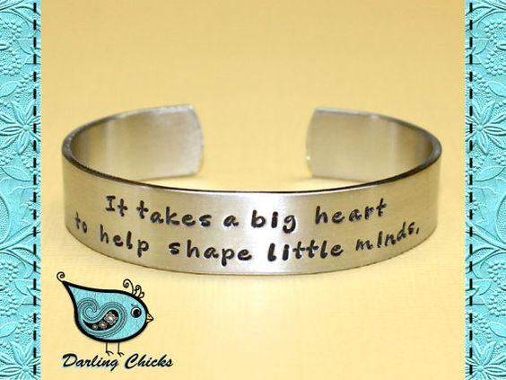 Teacher Gift  It takes a big heart... Custom by DarlingChicks, $25.00