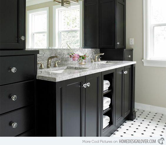 Black Bathroom Vanity Set: Towels, Vanities And Cabinets