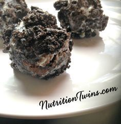 Skinny Oreo Balls | Only 50 Calories | Lightened up Way to get your sweet treat | For MORE RECIPES like this please SIGN UP for our FREE NEWSLETTER www.NutritionTwins.com