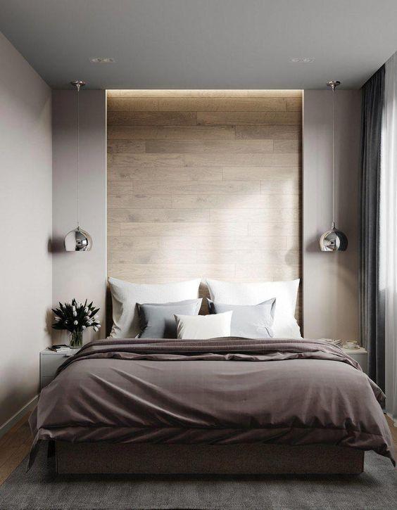 モダン インテリア 寝室 コーディネート例 間接照明