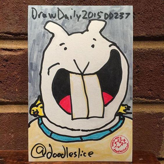 Ringer teeth 2015-08-26 09:13pm DD237 #drawdaily2015 #bunny #teeth #getsketchy21 #atlsketchsociety