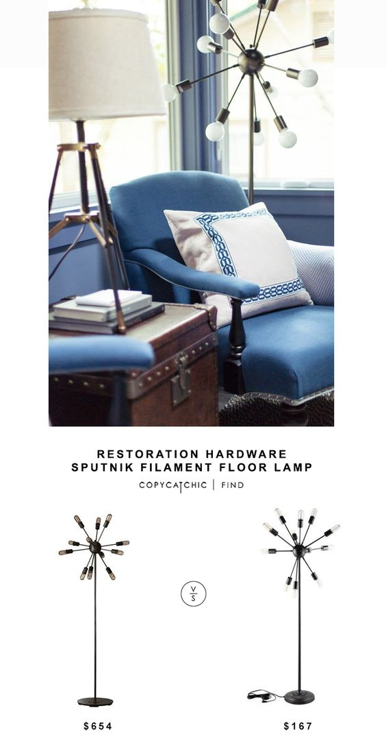 restoration hardware sputnik filament floor lamp 645 vs. Black Bedroom Furniture Sets. Home Design Ideas