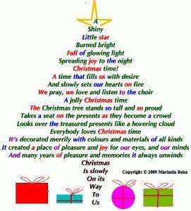 Christmas tree Shape Poem | Motivational & Inspirational Poems and ...                                                                                                                                                                                 More