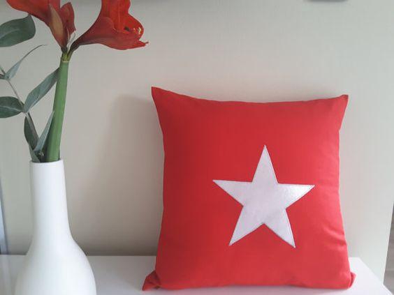Kissenhülle Stern von MyMaryandMe auf Etsy