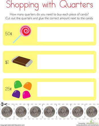 Pre School Worksheets Counting Money Shopping Worksheets Free