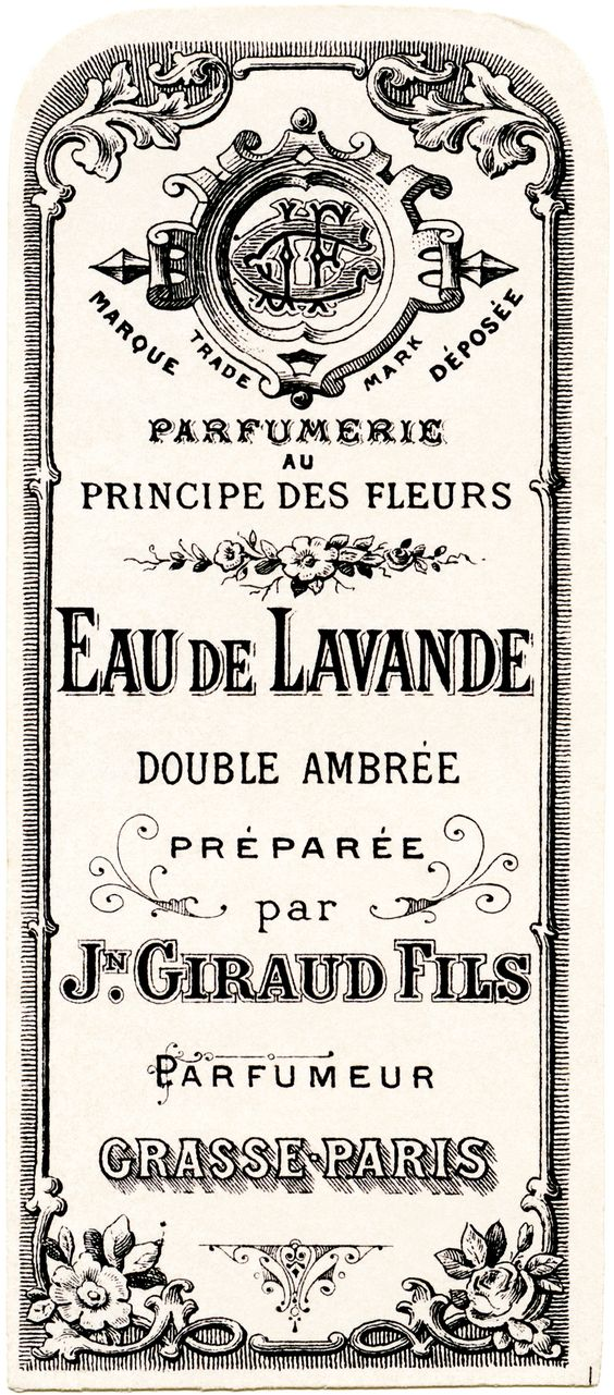 French Perfume Label Jn Giraud Fils Vintage French
