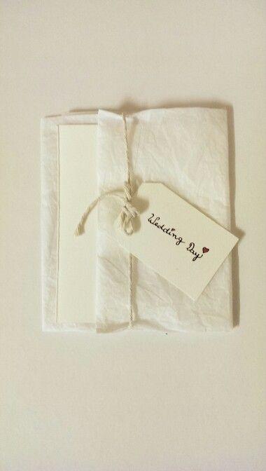 Hand made wedding invitation // Ana Augusto