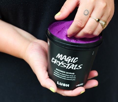 What Kind Of Wizardry Is This A Brand New Body Scrub Is Coming Your Way Magic Crystals Is Available In Store Now Lush Body Scrub Lush Products Lush Cosmetics