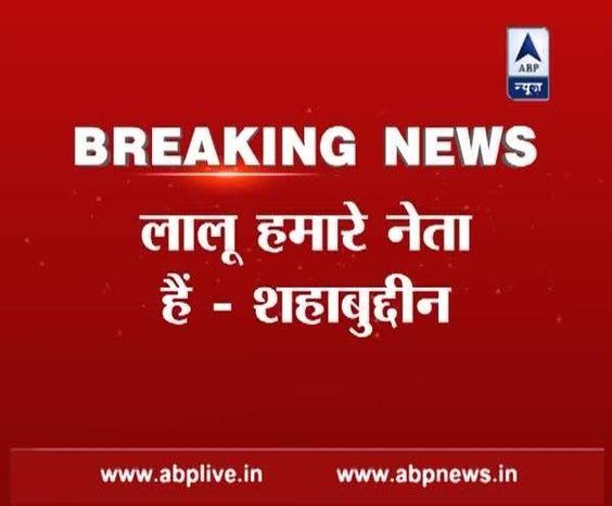 Nitish Kumar परिस्थितियों के सीएम, Lalu Prasad Yadav हमारे नेता-शहाबुद्दीन