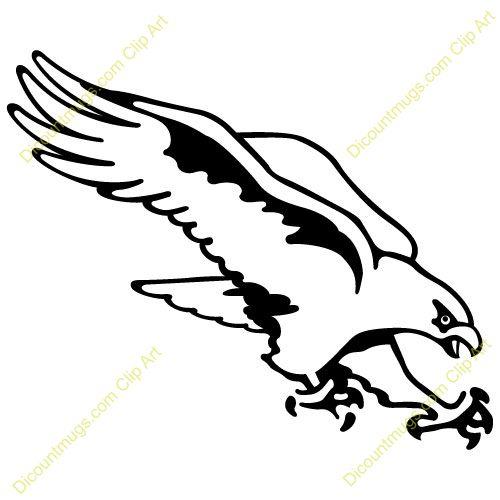 Hawk Stencil | hawk clip art 6 500×500 | seahawk ...