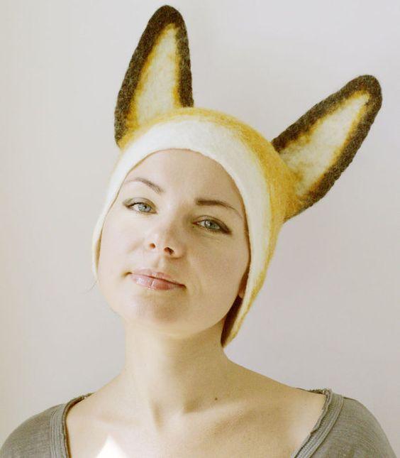 Fox Hat  Hand Felted Wool  Size Medium/Large by vaivanat