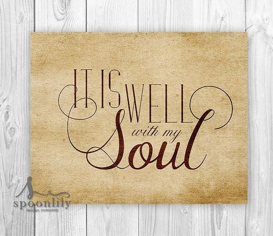 Bible Verse Art print, Scripture wall art decor, nursery bible verse, It is well with my soul, Home Decor, wall art poster print