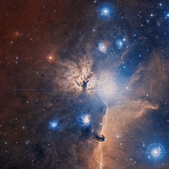 Astronomy Picture of the Day for 10 May 2014. The Flame Nebula stands out in this optical image of the dusty, crowded star forming regions toward Orion's belt, a mere 1,400 light-years away.