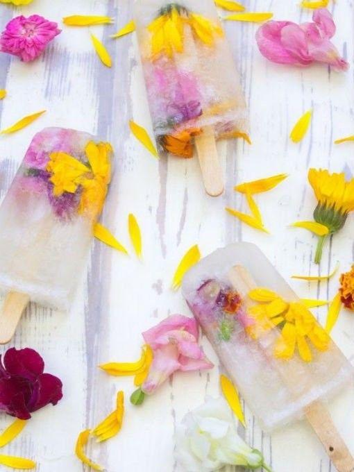 Paletas heladas de flor de cempasúchil. Receta fácil | Paletas de helado, Recetas de polos, Recetas de helados